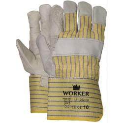 Nerflederen handschoen met...